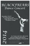 Blackfriars Dance Concert 2014 Playbill by Providence College