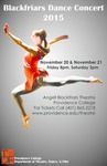 Blackfriars Dance Concert 2015 Poster by Providence College and Haley Grant