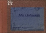 Rubrical Pamphlet Series of the Dominican Rite