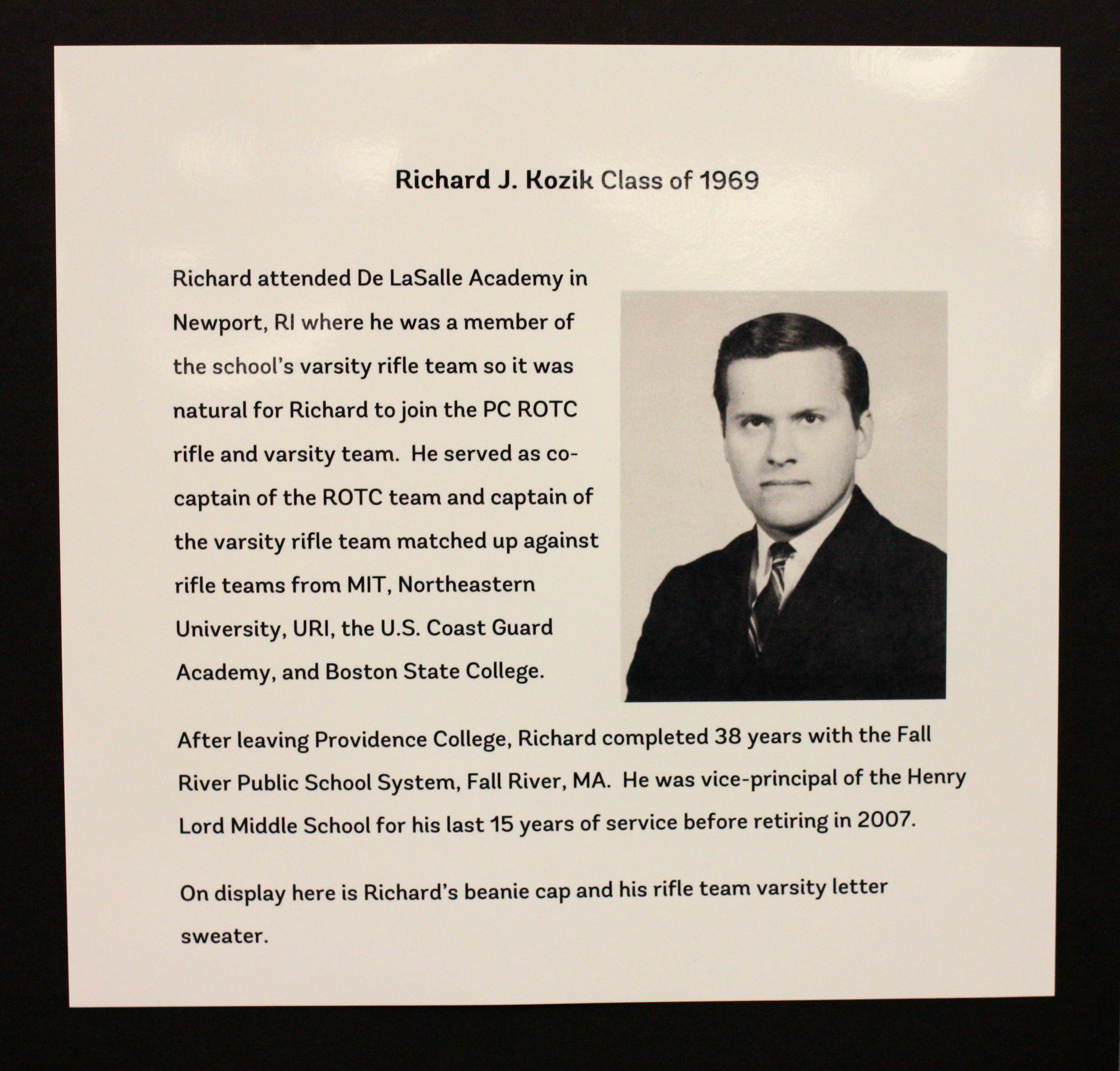 """Richard J. Kozik, Class Of 9"""" by Providence College Special"""