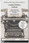 Creative Writer's Festival 2018 Poster by Providence College