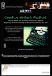 Creative Writer's Festival 2018 Email Promotion