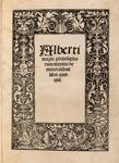 Title Page From De Mineralibus Libri Quinque (On Minerals) - Reproduction