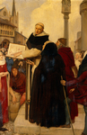 Albertus Magnus Expounding His Doctrines Of Physical Science In The Streets Of Paris - Reproduction