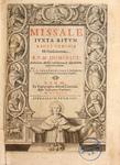 Missale juxta ritum Sacri Ordinis FF. Praedicatorum (Missal according to the rite of the Order of the Sacred FF. Preachers) - Frontispiece