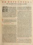 Missale juxta ritum Sacri Ordinis FF. Praedicatorum (Missal according to the rite of the Order of the Sacred FF. Preachers) - De Defectibus