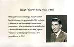 """Joseph """"Jake"""" P. Kenny, Class Of 1944"""