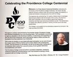 Centennial Announcement By President Reverend Brian J. Shanley, O.P. '80