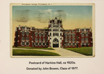 Postcard Of Harkins Hall by Providence College Special & Archival Collections