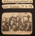 Providence Journal Article: Wilkens Inspirational As Friars Triumph, 71 To 70 by Providence College Special & Archival Collections