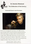 Flyer: Centennial Concert With Chris Botti by Providence College Special & Archival Collections