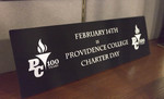 Providence College Charter Day Sign