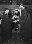 John Thompson, Jr. Receiving His Degree by Providence College Special & Archival Collections