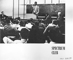Veritas Photo of John Thompson, Jr. with the Spectrum Club by Providence College Special & Archival Collections