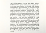 Veritas Description Of The Spectrum Club by Providence College Special & Archival Collections