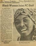 Black Woman Joins PC Staff