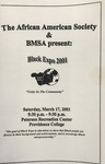 Black Expo 2001 Flyer by Providence College Special & Archival Collections