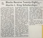 Cowl Article: Blacks Receive Twenty-Eight Martin L. King Scholarships