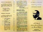 Dr. Martin Luther King Scholarship Program at Providence College Pamphlet
