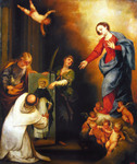 Saint Dominic in Soriano (Reproduction) by Pedro Atanasio Bocanegra (1638-1688)