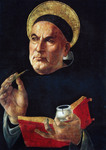 St. Thomas Aquinas (Reproduction) by Sandro Botticelli (1444-1510)