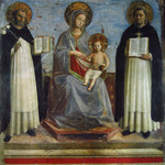 Madonna and Child with St. Dominic and St. Thomas Aquinas (Reproduction) by Fra Angelico (c. 1395-1455)