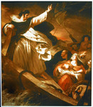 St. Thomas Aquinas Preaching his Confidence in God during the Storm (Reproduction) by Ary Scheffer (1795-1858)