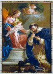 Virgin and Child giving the Rosary to St. Dominic (Reproduction) by Etienne Parrocel (1696-1776)