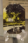 Glass Encased Image of Whittier's Home in Havervill, MA
