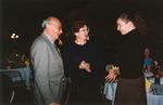 Professor Francis MacKay (left) Speaking With Student