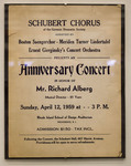 Poster - Anniversary Concert in Honor of Mr. Richard Alberg
