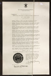 Copy of Rhode Island Proclamation: Tricentennial Anniversary of German Settlement in America Day