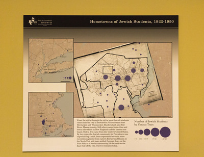 Hometowns Of Jewish Students, 1922-1950