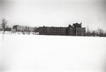 Aquinas Hall (Background) and Harkins Hall (Foreground)-January 1944
