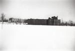 Aquinas Hall (Background) and Harkins Hall (Foreground)-January 1944