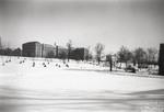 Aquinas Hall (left) and Guzman Hall (right) - January 1944