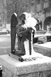 Snow Falling on Grotto Angel