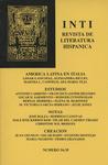 Inti No. 34-35, Otoño 1991, Cover