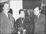 Mario Toral con Pablo Neruda y Matilde Urrutia.