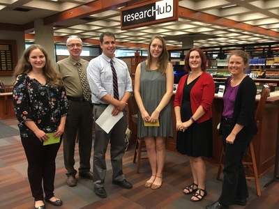 Undergraduate Craft Of Research Prize Awardees, 2016: Rebecca Marisseau (Left) and Emma Hodges (Third From Right)