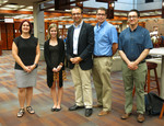 Undergraduate Craft Of Research Prize Awardees, 2015: Jacquelyn Kelley (Second From Left) And John Hindely (Center)
