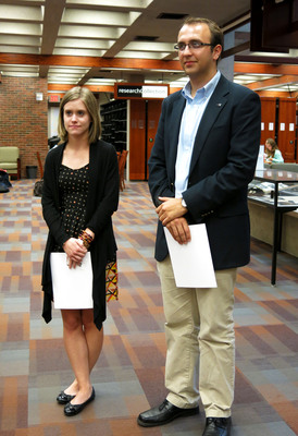 Undergraduate Craft Of Research Prize Awardees, 2015: Jacquelyn Kelley (Left) And John Hindely (Right)