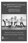 Spring Dance Concert 2011 Playbill by Providence College