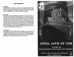 Student Film Festival 2016 Playbill by Providence College