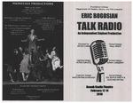 Talk Radio Playbill by Providence College